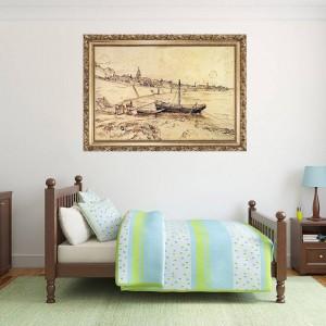 """Стикер за стена """"Ван Гог-Лодки"""""""