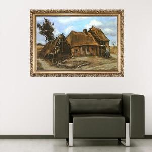"""Стикер за стена """"Ван Гог-Селска къща"""""""