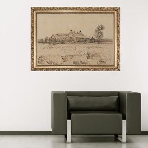 """Стикер за стена """"Ван Гог-На полето"""""""