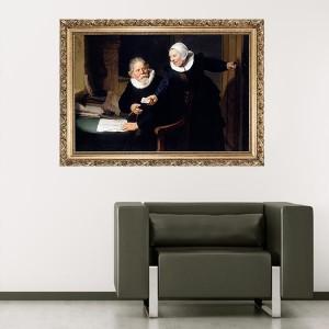 """Стикер за стена """"Рембранд-Съпрузи"""""""