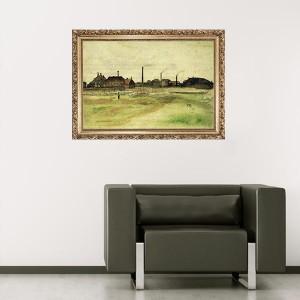 """Стикер за стена """"Ван Гог-В града"""""""