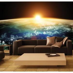 Фототапет за стена 'Залез от космоса'