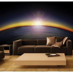 Фототапет за стена 'Изгрев над планетата'