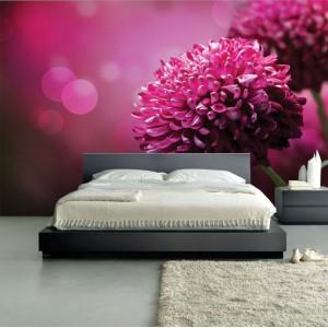 Фототапет за стена 'Лилави цветя'