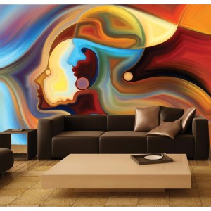 Фототапет за стена 'Дама в цветове'