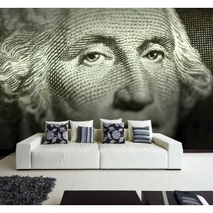 Фототапет за стена 'Ликът на доларите'