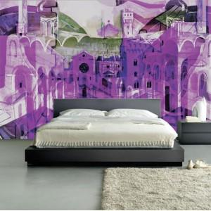 Фототапет за стена 'Лилаво въображение'