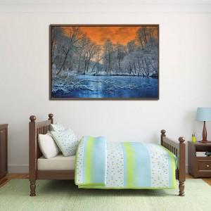 Канава - картина 'Замръзналото езеро'