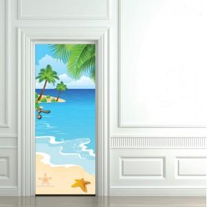 Детски фототапет за врата 'На плажа'