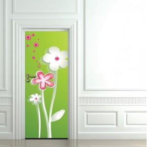Фототапет  за врата 'Нежни цветове'