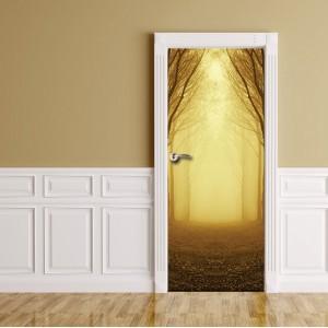 Фототапет  за врата 'В тъмната гора'