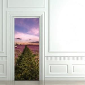 Фототапет за врата  'Розов път'