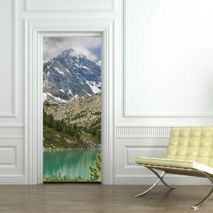 Фототапет за врата 'Бели върхове'