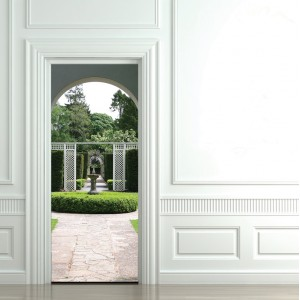 Фототапет за врата 'Английска градина'