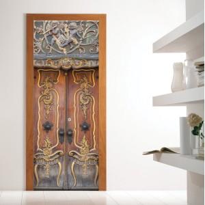 Фототапет за врата 'Дървена порта'