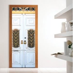 Фототапет за врата 'Бяло дърво'