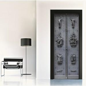 Фототапет за врата 'Железни орнаменти'