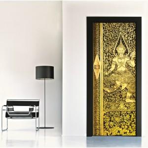 Фототапет за врата 'Златна богиня'