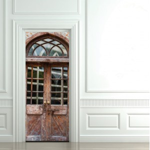 Фототапет за врата 'Заден двор'