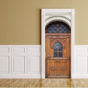 Фототапет за врата 'Дървено изкуство'
