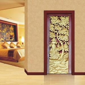 Фототапет за врата 'Златна градина'