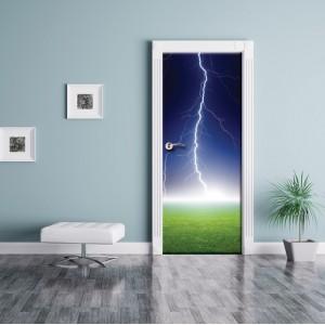 Фототапет  за врата 'Светкавица'