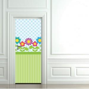 Детски фототапет за врата 'В градината'