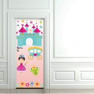 Детски фототапет за врата  'Розова принцеса'
