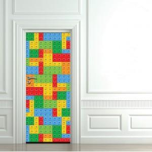 Детски фототапет за врата 'Лего'