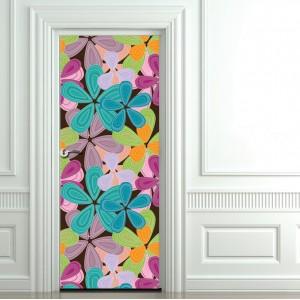 Фототапет за врата 'Весели цветя'