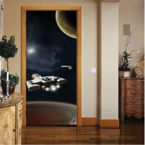 Фототапет  за врата 'Нощ в космоса'