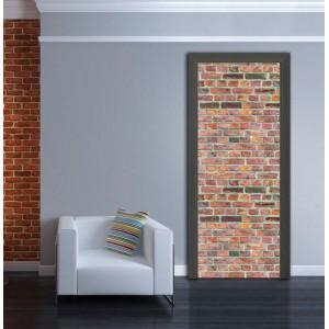 Фототапет  за врата 'Тухлена стена'