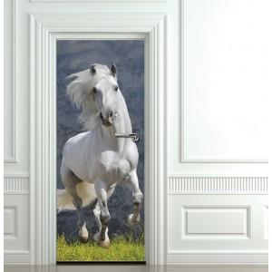 Фототапет  за врата 'Бял кон'