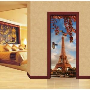 Стикер за врата 'Есен в Париж'