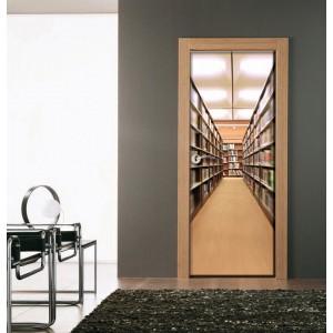 Фототапет за врата  'Сред книгите'