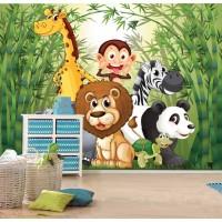 Детски фототапет за стена 'В джунглата'