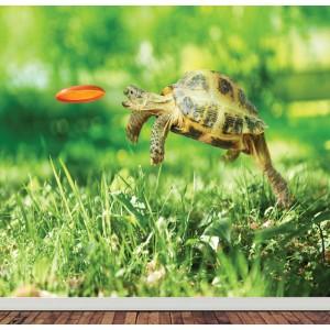 Детски фототапет за стена 'Летяща костенурка'