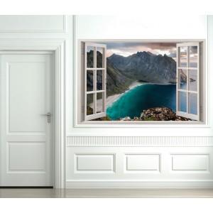 Стикер за стена 'Гледка към езерото'