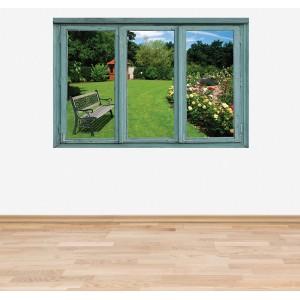 Стикер за стена 'Изглед към градината'