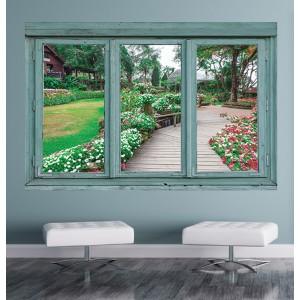 Стикер за стена 'Изглед към градинския покой'