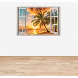 Стикер за стена 'Изглед към палмите'