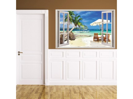 Стикер за стена 'Изглед към плажа'