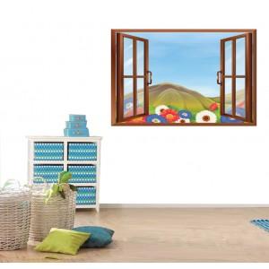 Стикер за стена 'Изглед към детската поляна'