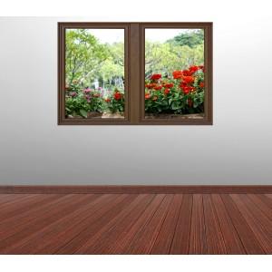 Стикер за стена 'Изглед към цветята'