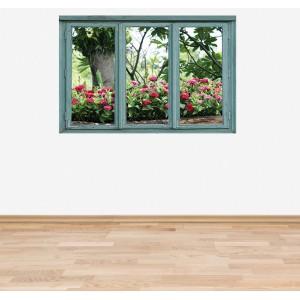 Стикер за стена 'Изглед към цветната градина'