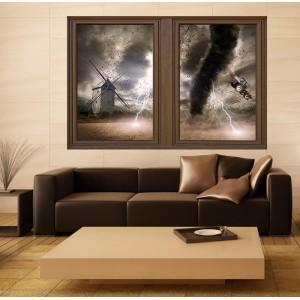 Стикер за стена 'Изглед към торнадото'