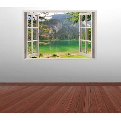 Стикер за стена 'Изглед към зеленото езеро'