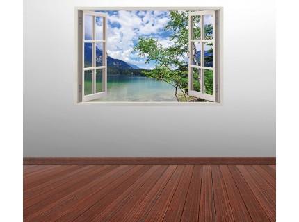 Стикер за стена 'Изглед към езерото'